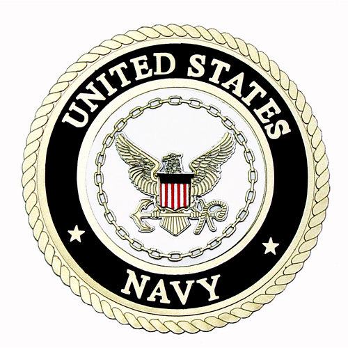 Uniformed Scrapbooks of America - 3 Dimensional Die Cut - Emblem - Navy