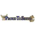 Uniformed Scrapbooks of America - 3 Dimensional Die Cut - Proud to Serve Title - Navy