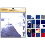 Uniformed Scrapbooks of America - 12 x 12 Paper Pack - U.S. Navy