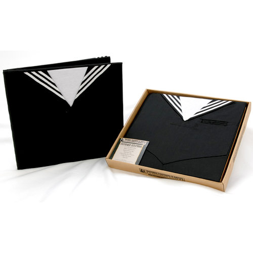 Uniformed Scrapbooks of America - 12 x 12 Postbound Album - Military Uniform Cover - U.S. Navy - Crackerjack