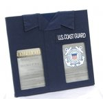 Uniformed Scrapbooks of America -  Double 4 x 6 Frame - U.S. Coast Guard
