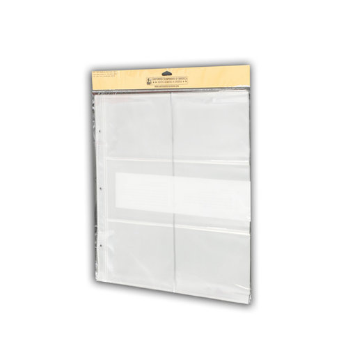 Uniformed Scrapbooks of America - 12 x 12 Postbound Page Protectors - Holds Six 4 x 6 Photos - 10 Pack