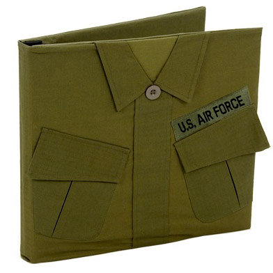 Uniformed Scrapbooks of America - 12 x 12 Postbound Album - Military Uniform Cover - Air Force - Vietnam