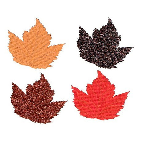 Leaky Shed Studio - Cardstock Die Cuts - Autumn Leaves Glitter