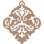 Leaky Shed Studio - Chipboard Shapes - Damask - Large