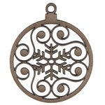 Leaky Shed Studio - Chipboard Shapes - Snowflake Scroll Christmas Ornament