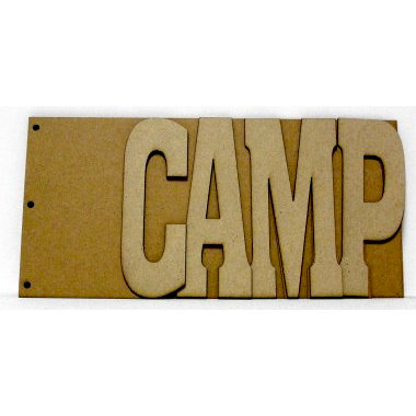 Unique Pages - Chipboard Albums - Word - Camp