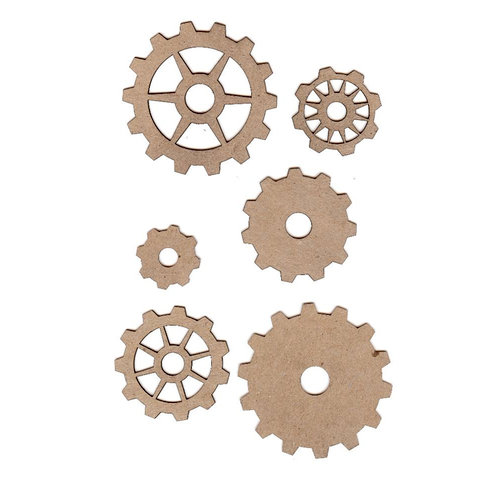 Leaky Shed Studio - Chipboard Shapes - Gear Set