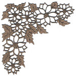Leaky Shed Studio - Chipboard Shapes - Christmas - Poinsettia Corner Chip