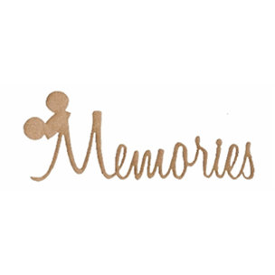 Unique Pages - Mickey Mouse - Chipboard Shapes - Memories with Ears