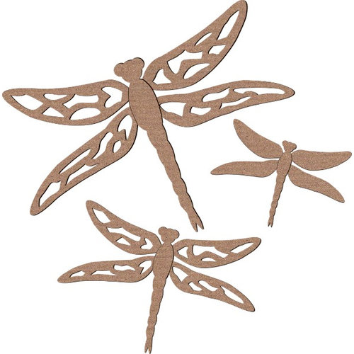 Leaky Shed Studio - Animal Collection - Chipboard Shapes - Spring Dragonfly
