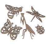 Leaky Shed Studio - Chipboard Shapes - Garden Bugs