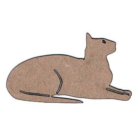 Leaky Shed Studio - Animal Collection - Chipboard Shapes - Cat Resting