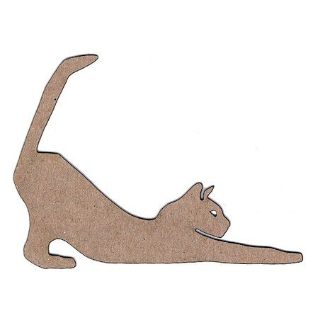Leaky Shed Studio - Animal Collection - Chipboard Shapes - Cat Stretching