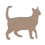 Leaky Shed Studio - Animal Collection - Chipboard Shapes - Cat Walking
