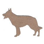 Leaky Shed Studio - Animal Collection - Chipboard Shapes - German Sheppard