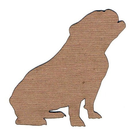 Leaky Shed Studio - Animal Collection - Chipboard Shapes - Bulldog