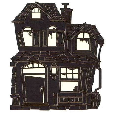 Leaky Shed Studio - Cardstock Die Cuts - Old House Black