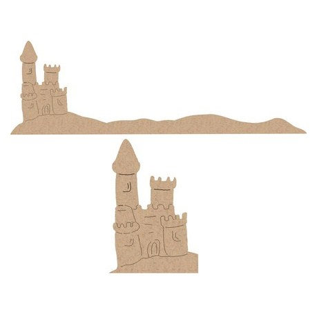 Leaky Shed Studio - Sandpaper Die Cuts - Sand Castle