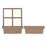 Leaky Shed Studio - Chipboard Shapes - Window and Flower Box Frame