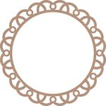 Leaky Shed Studio - Chipboard Shapes - 6 Inch Circle Arch Doily