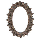 Leaky Shed Studio - Chipboard Shapes - Lace Oval Frame