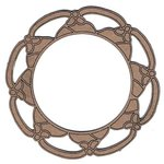 Leaky Shed Studio - Chipboard Shapes - Flower Pedal Circle Frame