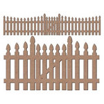 Leaky Shed Studio - Chipboard Shapes - Picket Fence
