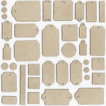 Unique Pages - Chipboard Tags Set - Assorted Sizes