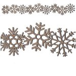Leaky Shed Studio - Chipboard Shapes - Christmas - Snowflake Border Chip - Small