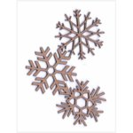 Leaky Shed Studio - Chipboard Shapes - Christmas - Snowflake Corner Chip
