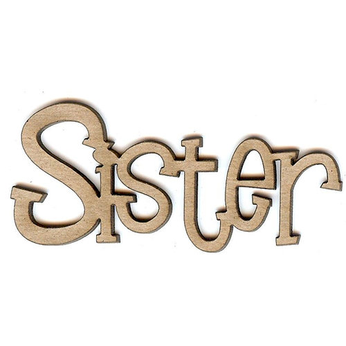 Unique Pages - Family Collection - Chipboard Words - Sister
