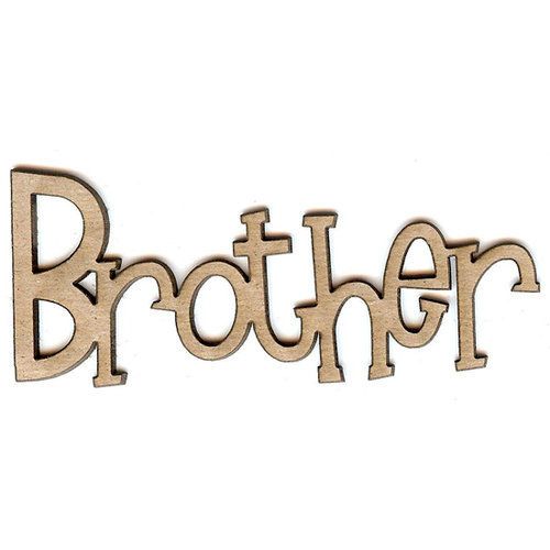 Unique Pages - Family Collection - Chipboard Words - Brother