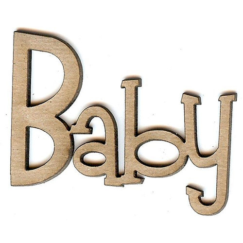 Unique Pages - Family Collection - Chipboard Words - Baby