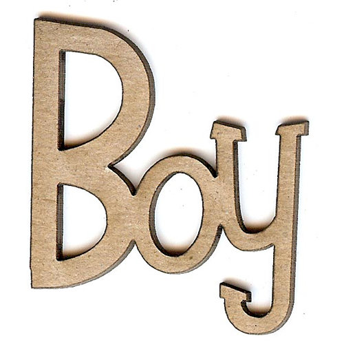 Unique Pages - Family Collection - Chipboard Words - Boy