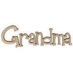 Unique Pages - Family Collection - Chipboard Words - Grandma