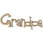 Unique Pages - Family Collection - Chipboard Words - Grandpa