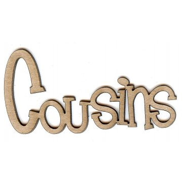 Unique Pages - Family Collection - Chipboard Words - Cousins