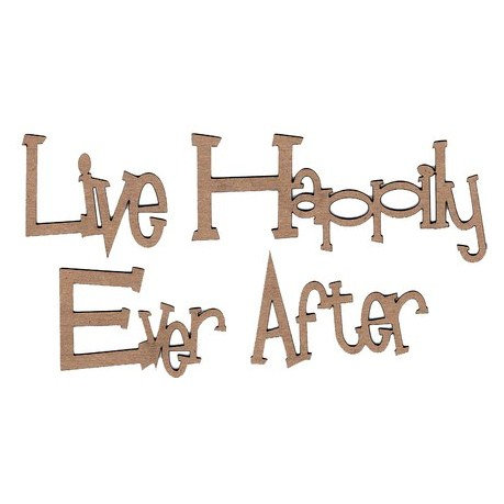 Leaky Shed Studio - Family Tree Collection - Chipboard Shapes - Live Happily Ever After