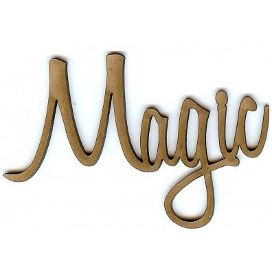 Unique Pages - Chipboard Words - Magic