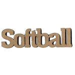 Leaky Shed Studio - Sport Collection - Chipboard Words - Softball