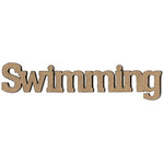 Leaky Shed Studio - Sport Collection - Chipboard Words - Swimming