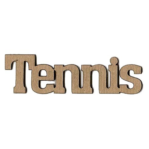 Leaky Shed Studio - Sport Collection - Chipboard Words - Tennis