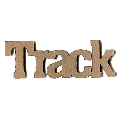 Leaky Shed Studio - Sport Collection - Chipboard Words - Track