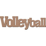 Leaky Shed Studio - Sport Collection - Chipboard Words - Volleyball