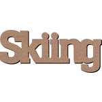 Leaky Shed Studio - Sport Collection - Chipboard Words - Skiing
