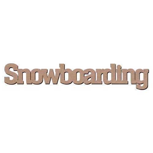 Leaky Shed Studio - Sport Collection - Chipboard Words - Snowboarding