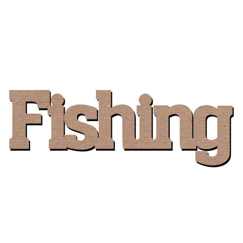 Leaky Shed Studio - Sport Collection - Chipboard Words - Fishing