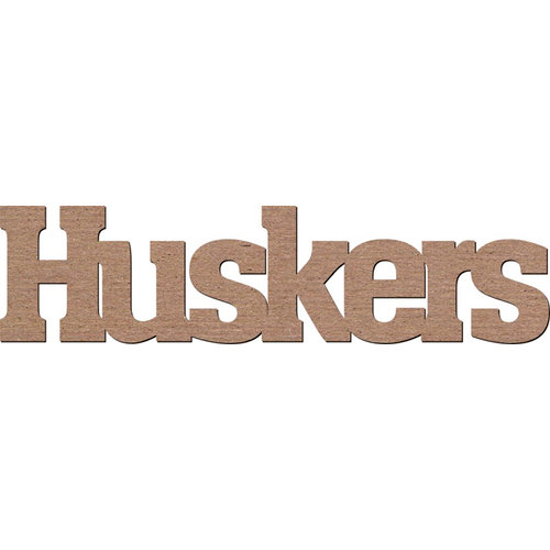 Leaky Shed Studio - Mascot Collection - Chipboard Words - Huskers