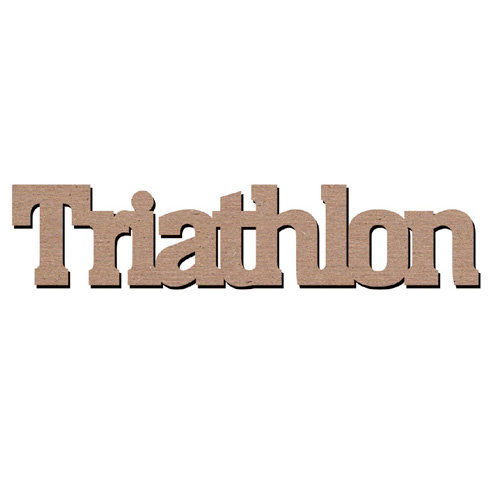 Leaky Shed Studio - Sport Collection - Chipboard Words - Triathlon